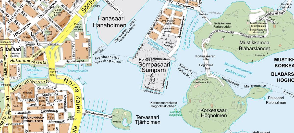 Merihaka-Korkeasaari-karttaleike